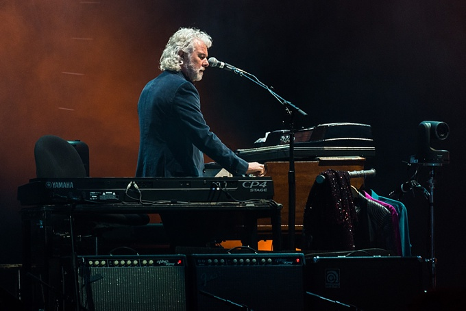 The Rolling Stones, Concert Photo, Vienna, Austria, 2014: Keyboarder playing on stage