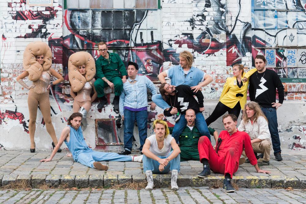 Bonaparte group photo into the wild tour 20.10.2014 Arena Vienna