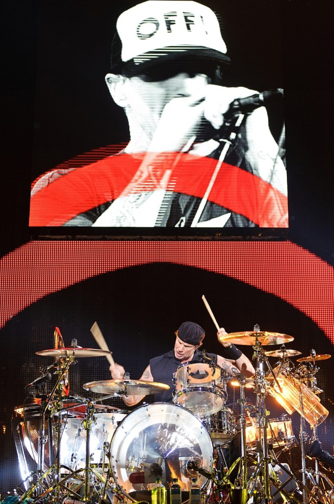 Drummer Chad Smith of the band Red Hot Chili Peppers during a concert on Dezember 7th 2011 in the Stadthalle in Vienna