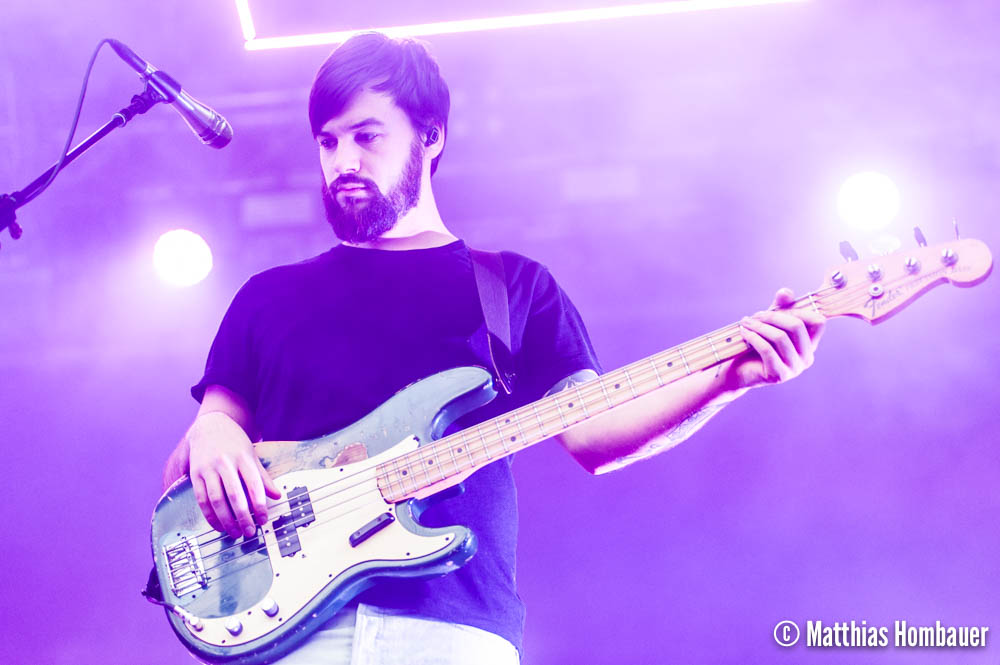 Ross MacDonald of The 1975 in concert on 1 July 2017 at the Arena Vienna